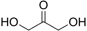 Triose - Dihydroxyacetone is a ketotriose because the carbonyl group is the center of the chain.