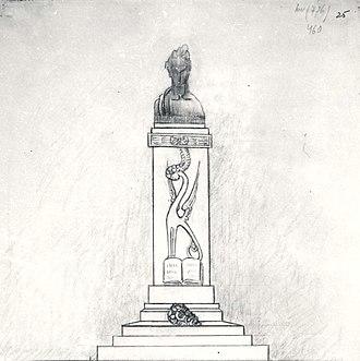 Luceafărul (poem) - Image: Dimitrie Paciurea Proiect de monument pentru Mihai Eminescu