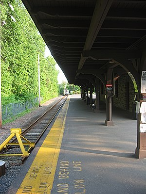 Princeton station (NJ Transit) - 1918 station (2003 photo)