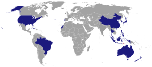 Foreign relations of East Timor - Countries with embassies in East Timor