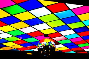 Disco - The ceiling of an Arlington, Texas discothèque