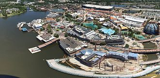Disney Springs - Aerial view of Disney Springs as of May 8, 2016