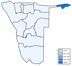 Distribution of Caprivi languages in Namibia.png