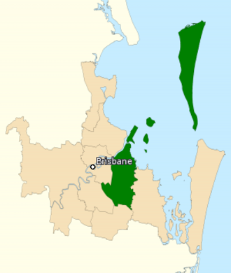 Division of Bonner - Division of Bonner in Queensland, as of the 2016 federal election.