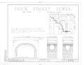 Dock Street Sewer, Dock and Third Streets vicinity, Philadelphia, Philadelphia County, PA HABS PA,51-PHILA,407- (sheet 1 of 1).png