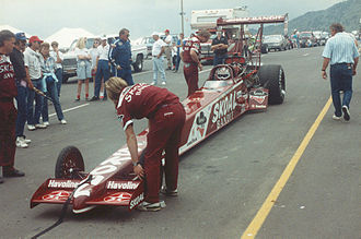 Don Prudhomme - Prudhomme's Top Fuel dragster in 1992