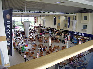 Donington Park services - Interior from upper floor