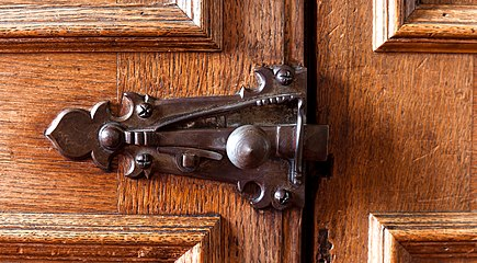 Door latch detail, Madingley Hall, Cambridgeshire.jpg
