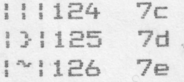 Dot printer ASCII0x7C+