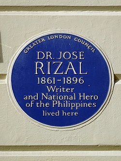 Dr jose rizal 1861 1896 writer and national hero of the philippines lived here