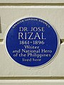 Dr Jose Rizal 1861-1896 writer and national hero of the Philippines lived here.jpg