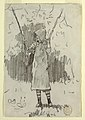 Drawing, Girl in a Sunbonnet Standing and Leaning on a Swing., 1879 (CH 18175247).jpg