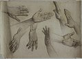 Drawing, Studies of Hands, early 20th century (CH 18467915).jpg