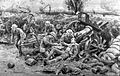 Drawing by F. Dadd; red cross soldiers and wounded, 1916 Wellcome L0009179.jpg
