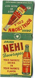 La Nehi è stato un tipico soft drink in uso negli Stati Uniti negli anni venti