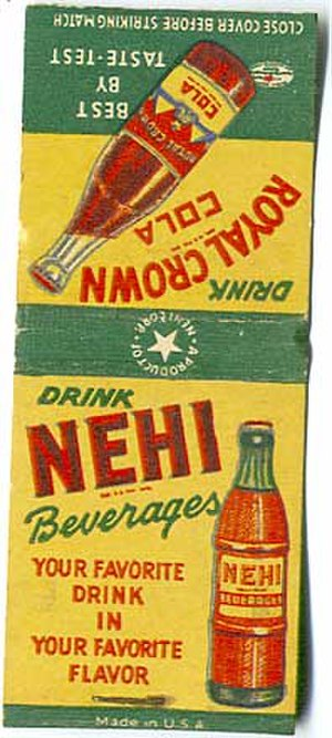 Nehi - An advertisement for Nehi soda on a matchcover