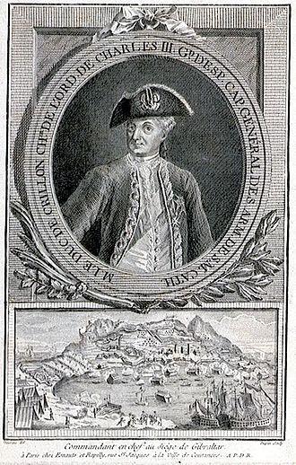 Louis des Balbes de Berton de Crillon, duc de Mahon - Image: Duc de Crillon commandant en chef au siege de Gibraltar
