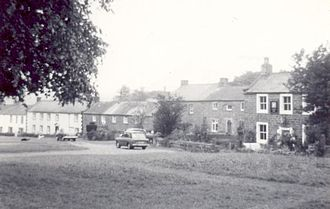 Dufton - Dufton village in 1968, the hills behind invisible in the mist