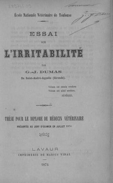 File:Dumas - Essai sur l'irritabilité.djvu