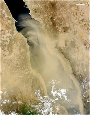 Red Sea - Dust storm over the Red Sea