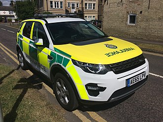 East of England Ambulance Service - One of the Trust's Range Rover Discovery Sport RRV's
