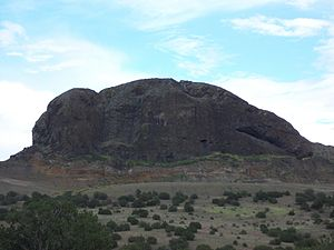 Encinal, New Mexico - Picacho Peak, a view from the west