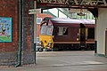 EWS Class 66, 66174, Wrexham General railway station (geograph 4025026).jpg