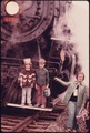 EXCITING MOMENT FOR THESE YOUNGSTERS IS A PICTURE TAKING SESSION ON THE STEAM POWERED ENGINE OF THE CUYAHOGA VALLEY... - NARA - 557964.tif