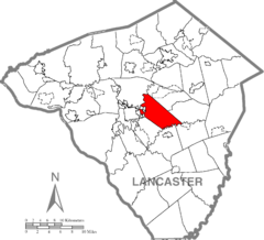 East Lampeter Township, Lancaster County Highlighted.png