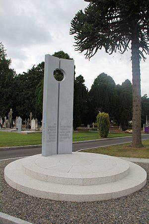 Deans Grange Cemetery - Easter Rising 1916 memorial, Deansgrange Cemetery.