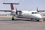 Eastern Australia Airlines (VH-SBB) de Havilland Canada DHC-8-315Q on the tarmac at Wagga Wagga Airport.jpg