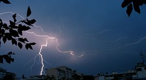 Lightnings on Saint-Julien-en-Genevois.