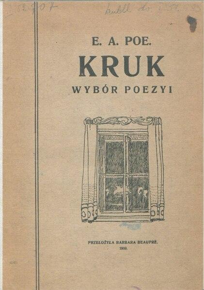 File:Edgar Allan Poe - Kruk. Wybór poezyi.djvu