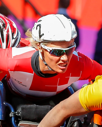 Edith Wolf - Wolf competing at the 2012 Summer Paralympics.