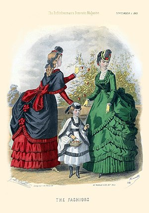 Fashion plate from The Englishwoman's Domestic...