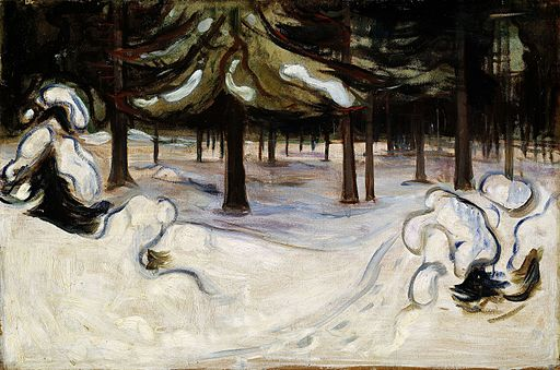 Edvard Munch - Winter in the Woods, Nordstrand (1899)