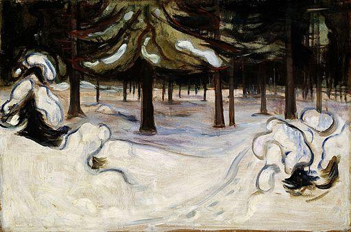 Edvard Munch - Winter in the Woods, Nordstrand (1899)