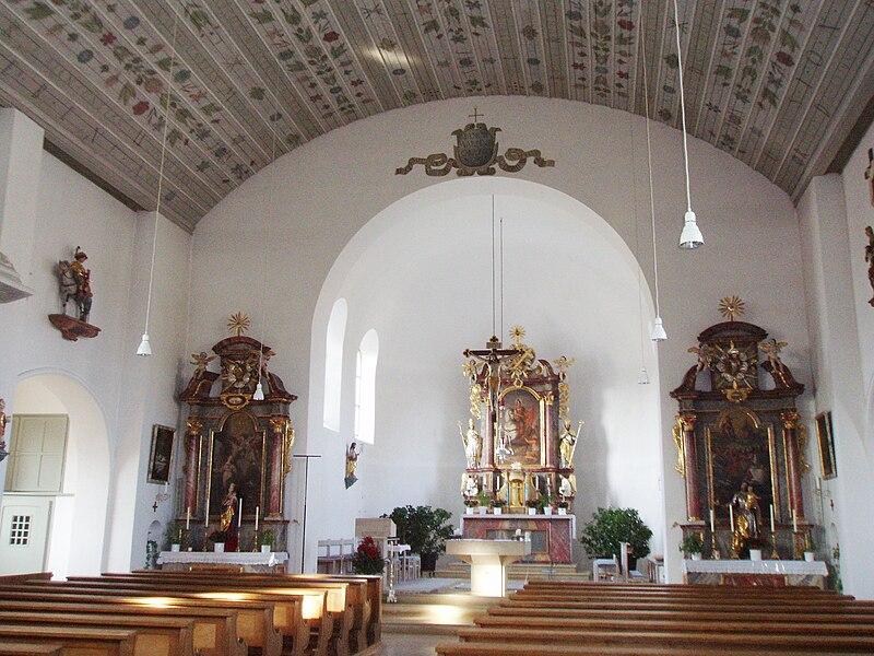 File:Egweil im Landkreis Eichstätt Pfarrkirche St. Martin Inneres.jpg