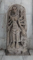 Eight Hands Durga Mahisasuramardini Statue