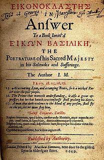 <i>Eikonoklastes</i> book