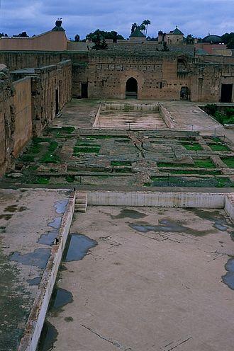 Ahmad al-Mansur - El Badi Palace, Marrakech. Built by Al-Mansur in 1578.