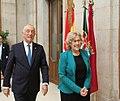 El presidente de la República de Portugal, Marcelo Rebelo de Sousa, recibe la Llave de Oro de Madrid 04.jpg