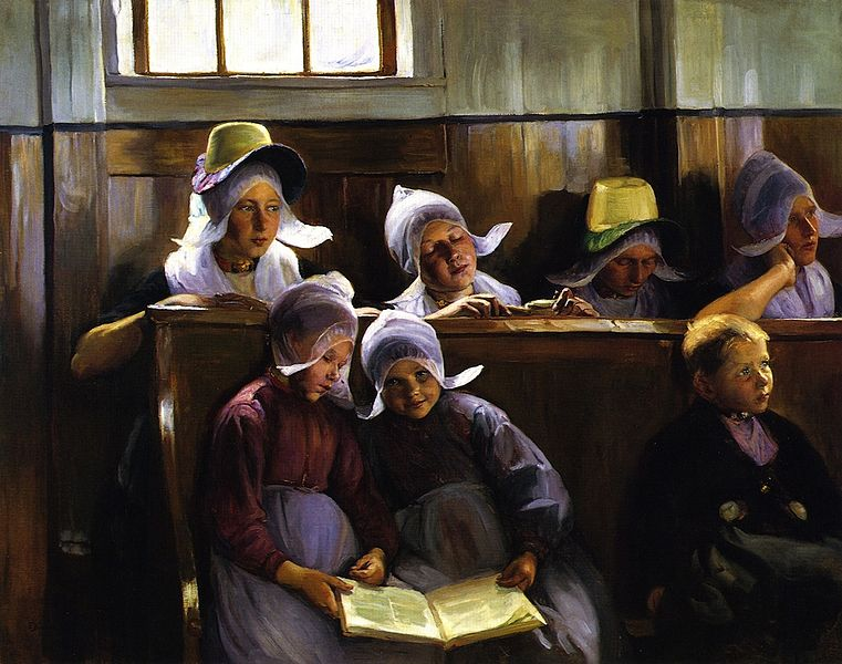 File:Elisabeth Nourse In The Church At Volendam.jpg