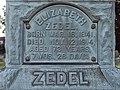 Elizabeth Zedel Monument, St. Paul's Lutheran Cemetery (Mount Oliver), 2015-08-23, 02.jpg