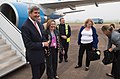 Embassy London DCM Dibble Greets Secretary Kerry Upon Arrival for NATO Summit (14950818047).jpg