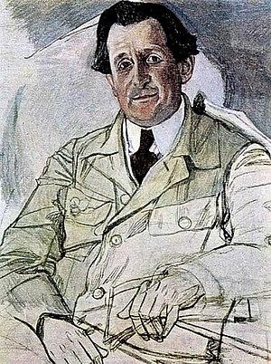 Emil Cooper - Portrait of Emil Cooper by Aleksandr Golovin. 1919.