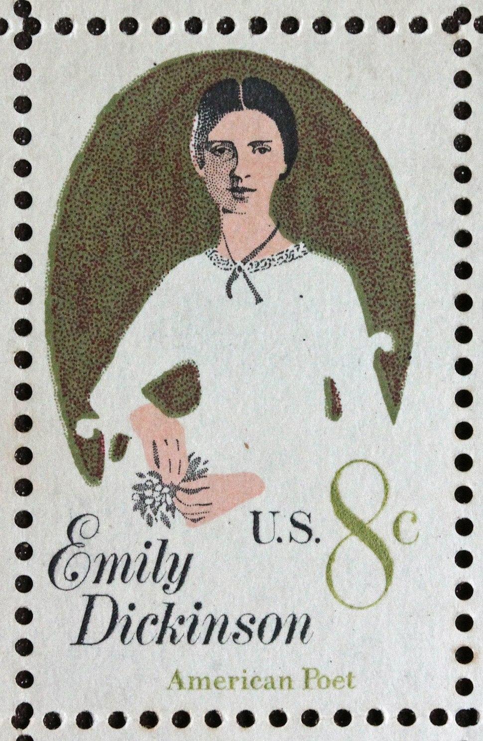 Emily Dickinson stamp 8c