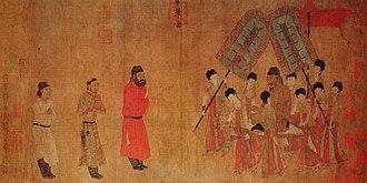 Emperor Taizong Receiving the Tibetan Envoy - Bunian Tu