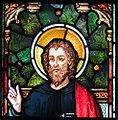 Enniscorthy St. Aidan's Cathedral East Aisle Second Window Evangelist Luke Detail 2009 09 28.jpg