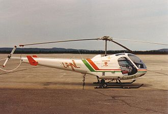 Universal Helicopters - An Enstrom F-28F used by Universal Helicopters for training, 1988